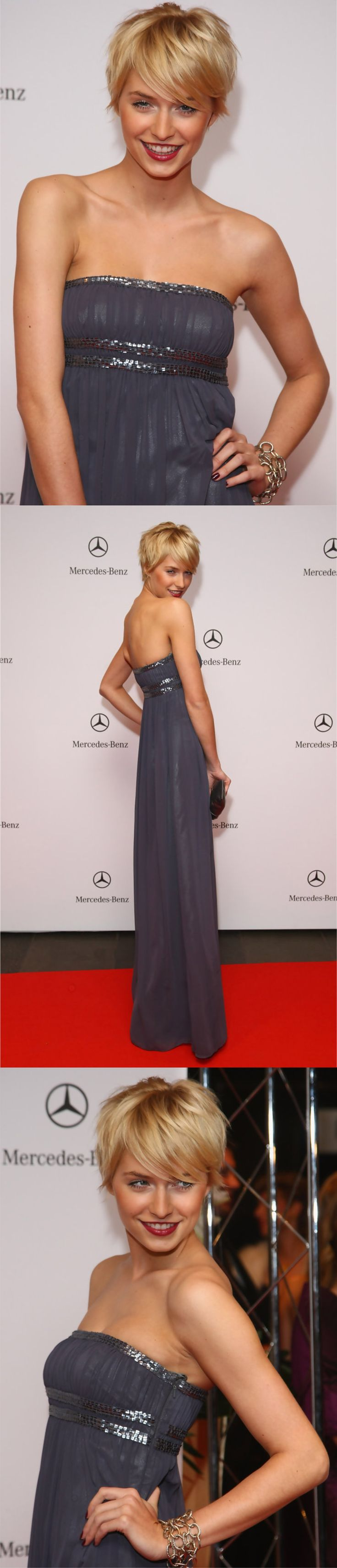 Lena Gercke attends the 15th AIDS Gala at the Deutsche Oper on November 8, 2008 in Berlin, Germany.