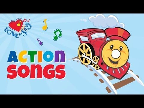Train Song for Kids with Lyrics | Children Love to Sing Transport Songs ...