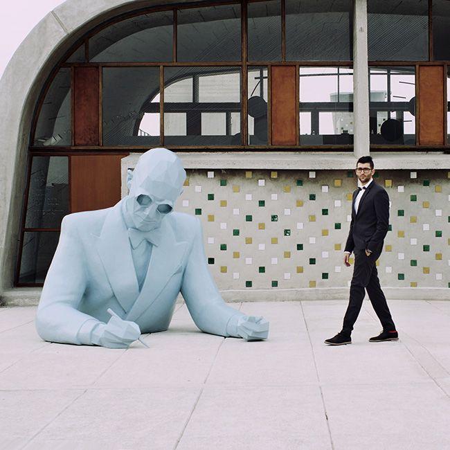 Sculpture Xavier Veilhan, Style Le Corbusier.
