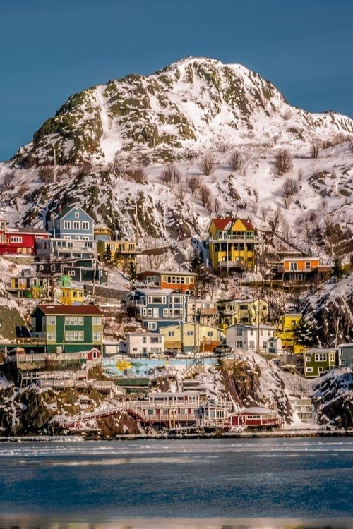 St. John's, Newfoundland, Labrador, Canada - How cute does this place look!