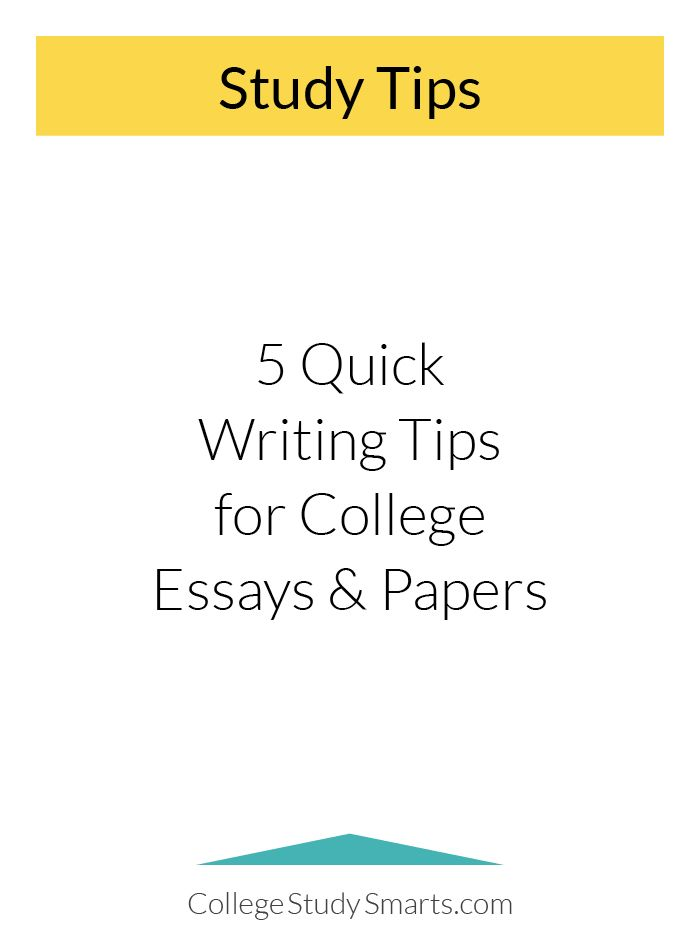 Write College Papers Easily + 5 Quick Writing Tips College Writing
