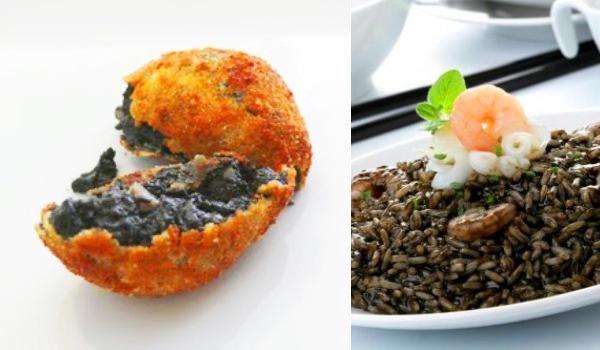 ¿Has probado las croquetas de arroz negro? Están buenísimas...