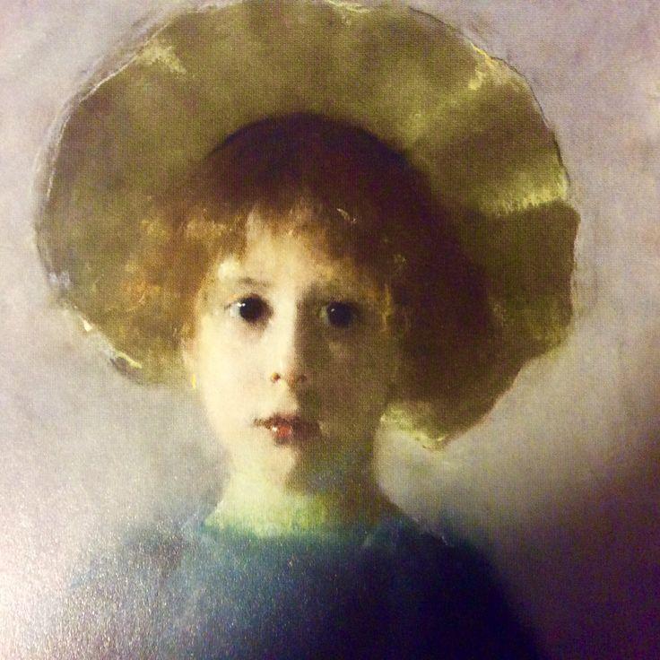 Dziewczynka z białą chusteczką - Olga Boznanska 1893