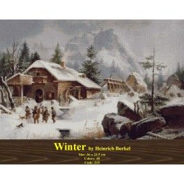Winter by Heinrich Burkel