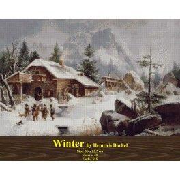 Winter by Heinrich Burkel