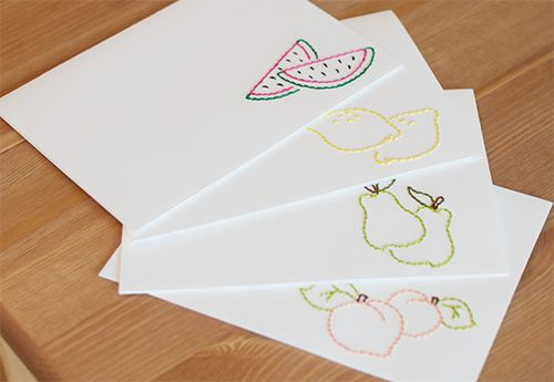 hand embroidered cards / mr. handsome face