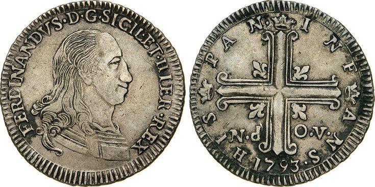 NumisBids: Numismatica Varesi s.a.s. Auction 65, Lot 547 : PALERMO - FERDINANDO III (1759-1816) 6 Tarì 1793. Sp. 40 MIR...