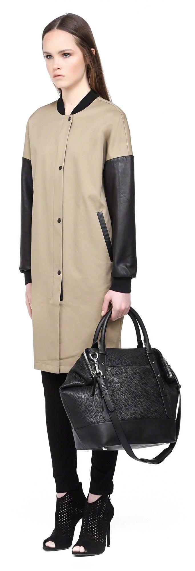 Mackage - RAFFIE-S5 LARGE BLACK TOTE BAG #mackage #handbags