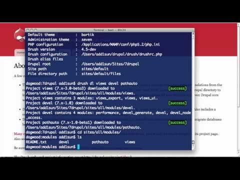 Discover hundreds more Drupal tutorial videos at Drupalize.Me/Videos. This is the first video in the Introduction to Drush series. This video provides an ans...