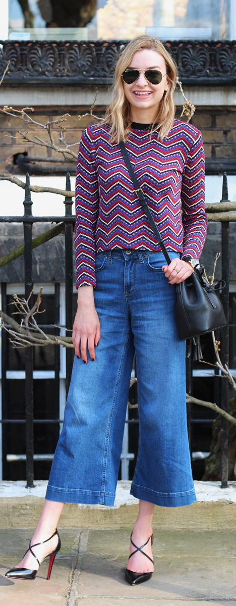 How To Style Denim Culottes - LOVE This Look On Ella
