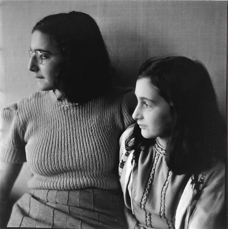 Margot & Anne Frank, one of the last photos taken of them, 1941 (?).