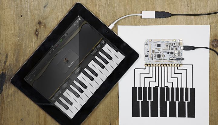How to make a GarageBand keyboard with the Touch Board