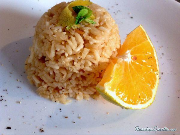 Receta de Arroz a la naranja