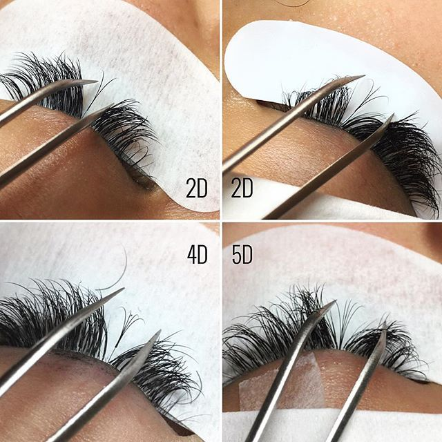 The 2D and 4D pictures show how a natural lash (NL) should look like once it grows out. Every NL should still be able to continue its lash growth cycle even with extension(s) attached. And my 5D fans aren't always perfect, but I'm practicing