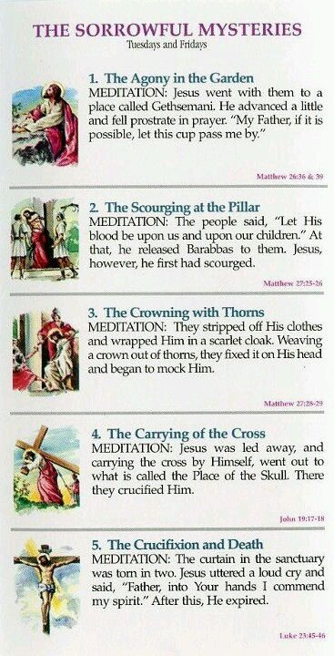 25+ best ideas about Rosary mysteries on Pinterest | Praying the ...