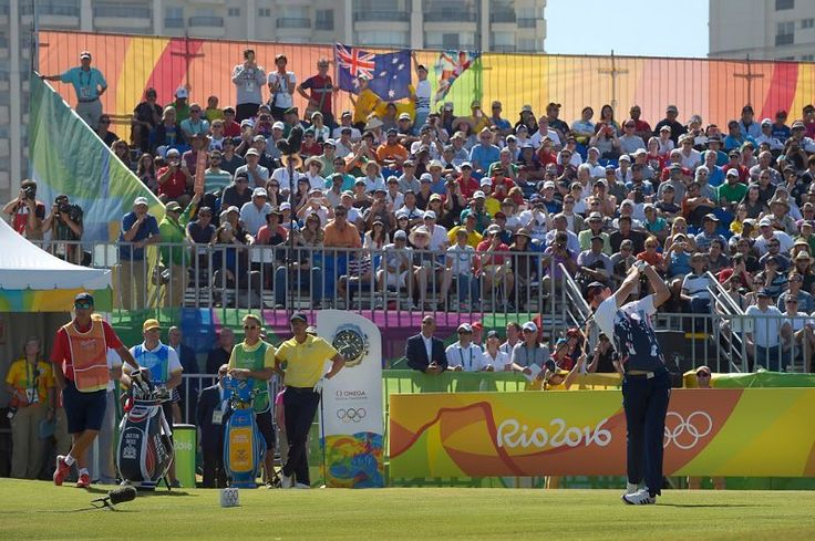 Justin Rose of Great Britain hits a drive on the first hole during the final round of the Rio 2016 Olympic Games at the Olympic Golf Course on August 14 2016 in Rio de Janeiro Brazil. (Photo by Stan Badz/PGA TOUR/IGF) http://ift.tt/2aWe2iL
