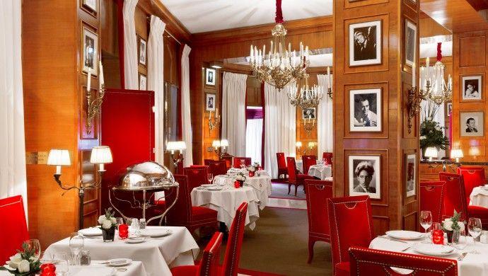 Le Fouquet restaurant in the Hotel Fouquet's Barriere, Paris.