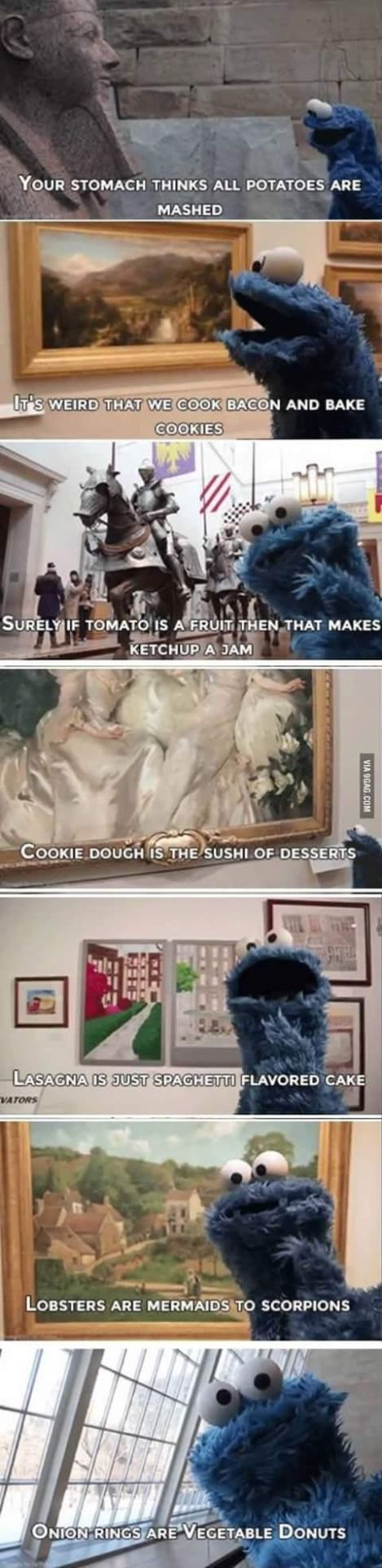 Some shower thoughts from the cookie monster. http://ift.tt/2jtJiuf #lol #funny #rofl #memes #lmao #hilarious #cute