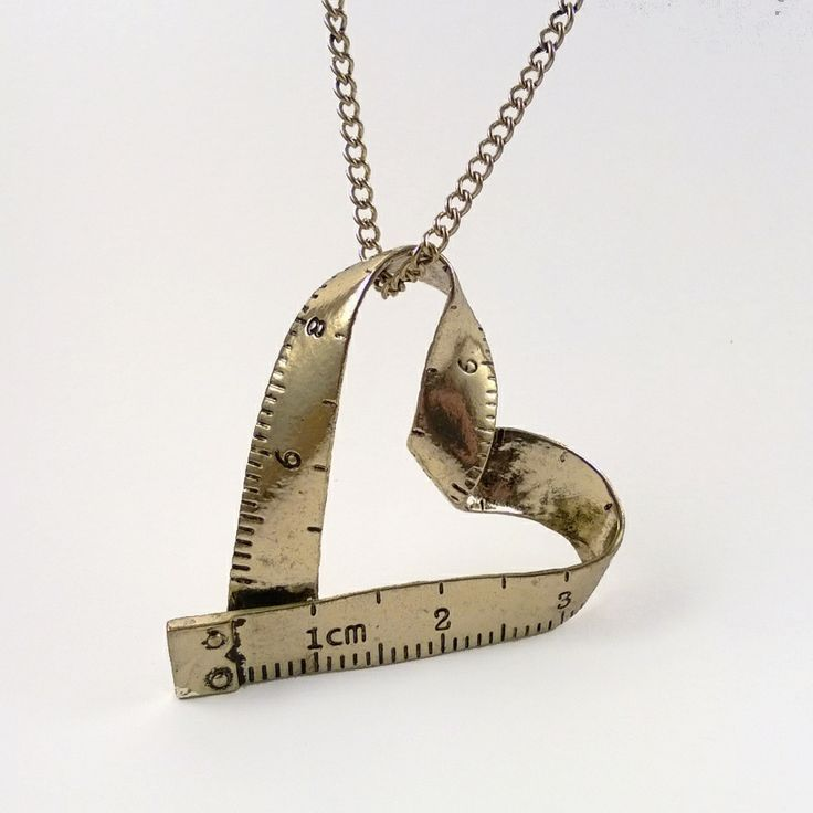 Mint Mouse - Measure My Love. Adorable measuring tape heart necklace for that sewing lover! Jewellery with a twist, a little quirky, a tad geeky, super cute or retro and vintage inspired.
