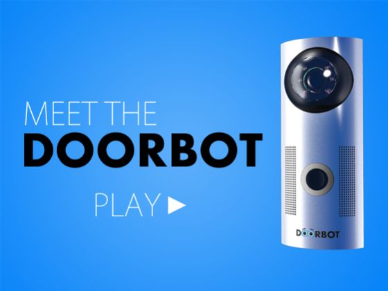 DoorBot  wireless video camera and speaker attached to your doorbell