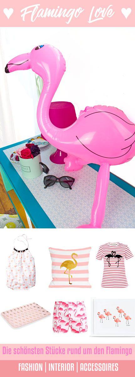 Ist der Flamingo zwar meist in einer Gruppe langbeiniger Kameraden anzutreffen, sieht man ihn als Deko in diesem Jahr auch gerne als Single-Motiv auf Shirts, Taschen und sogar Schuhen. Ob in der Herde oder alleine, Flamingos schmücken farbenprächtig Kleidung, Deko, Tapeten und Wände und auch auf Bettwäsche, Handtüchern und Taschen ist der dürrbeinige Vogel anzutreffen.