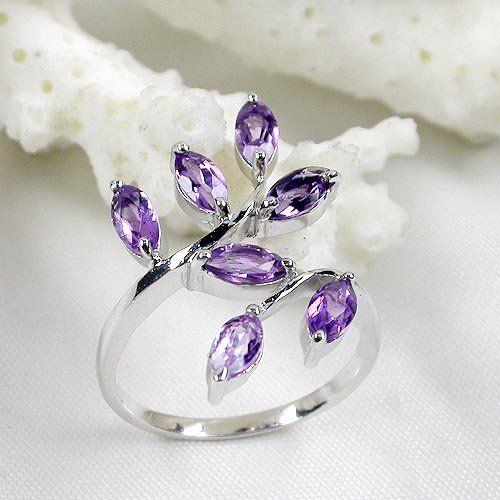 Joyería venta al por mayor, Fine Gemstone Jewelry-925 amatista anillo de plata esterlina ( xb0159agz )