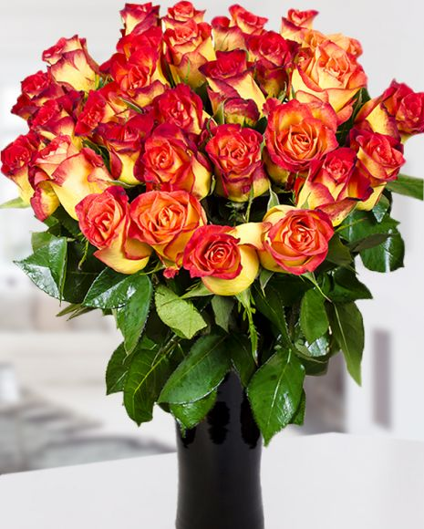 Beautiful fall bouquet with roses