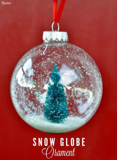Snow Globe Ornaments Diy Tutorial Diy Christmas Ornaments Easy