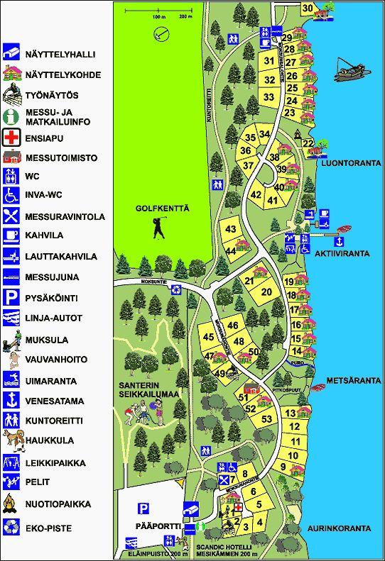 Map of a holiday-housing exhibition in Ähtäri, Finland, 2000.