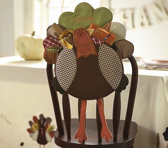 Turkey Thanksgiving Chairbacker | Pottery Barn Kids