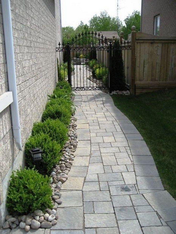 38 awesome walkway design ideas for front yard landscape ... on Side Yard Walkway Ideas id=31286