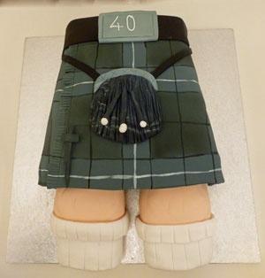 Tartan Kilt birthday cake