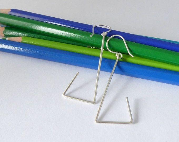 Geometric sterling silver drop earrings MINOatelier.etsy.com  (scheduled via http://www.tailwindapp.com?utm_source=pinterest&utm_medium=twpin)