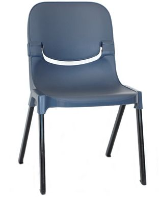 sebelfurniture.com - Progress Side Chair - less cool but have enquired about padding options and colours, very long lasting, interlocking, relatively light.