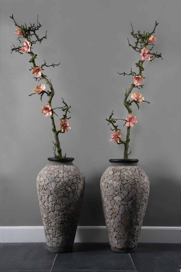 decoratietak met zijde magnolia. www.decoratietakken.nl