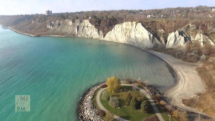 Drone Flight over Scarborough Bluffs, Toronto, Ontario