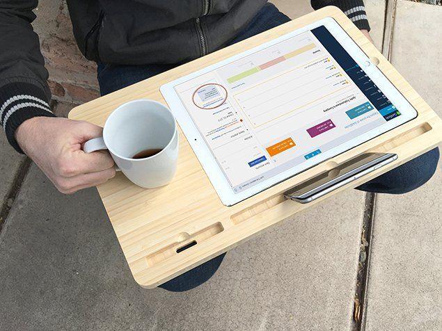 New display Dock For Apple iPad Pro 12.9″ with Desk Space premium bamboo #UnbrandedGeneric