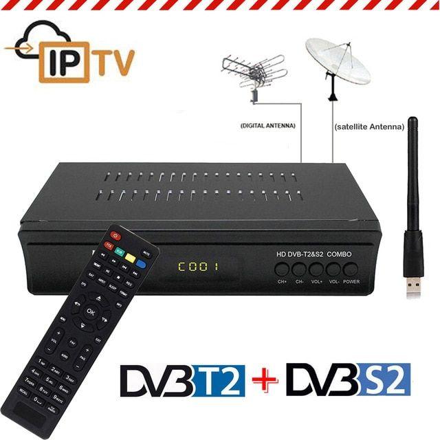 Koqit DVB T2 DVB S2 Receptor Decoder Combo TV Tuner wifi