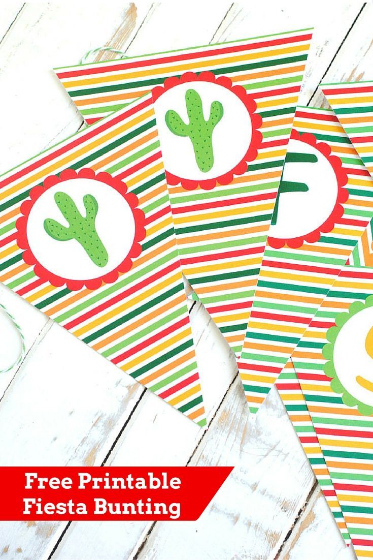 Free Printable Fiesta Bunting Mexican Fiesta Party Decorations