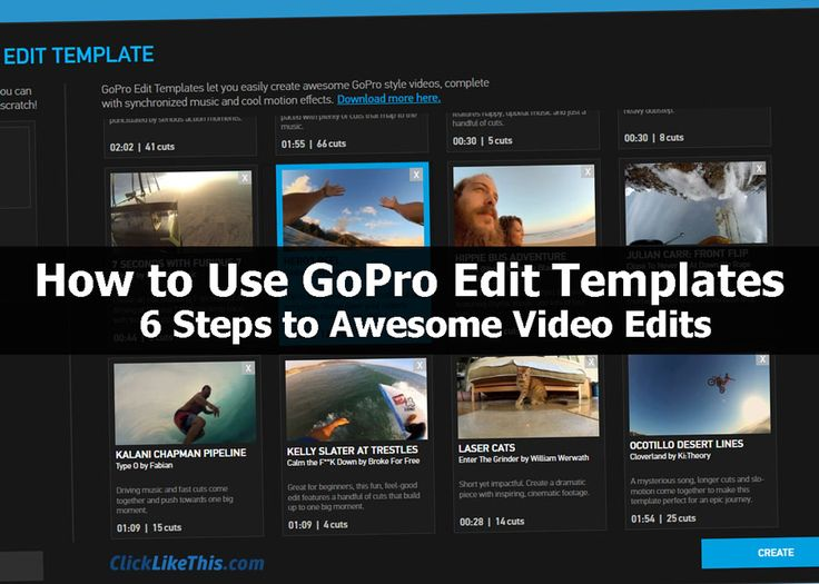 115 best how to use a gopro images on pinterest cameras make how to use gopro edit templates 6 steps to awesome video edits pronofoot35fo Images