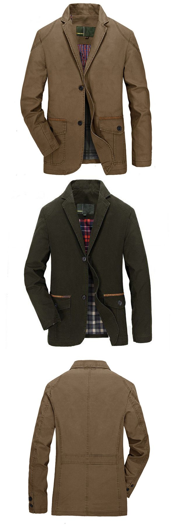 US$55.16 + Free shipping. Size: S~3XL. Color: Khaki, Army Green. Fall in love with casual and travel style! Men's Spring Fall Cotton Blend Casual Buttons Jacket Coat Suit Outwear. #mens #jackets #winter
