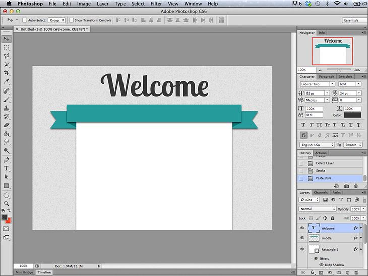 how to create a banner in Photoshop