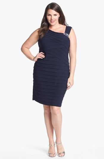 Jessica Howard Embellished Shutter Pleat Dress (Plus) available at #Nordstrom
