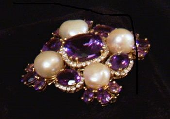 Liz Taylor had amazing taste in jewelry, as evidenced by this beautiful brooch. Find out more at http://www.reelz.com/beverlyhillspawn/