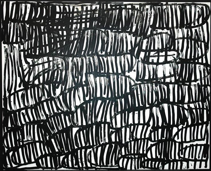 Minnie (Motorcar) Pwerle, Title not given, 2004/5, acrylic on linen, 180 x 122 cm. Hank Ebes Collection, Aboriginal Gallery of Dreamings, Melbourne.