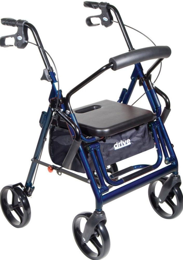 Sturdy Aluminum Duet Transport Chair Rollator Mobility Walking Equipment New #TransportChair
