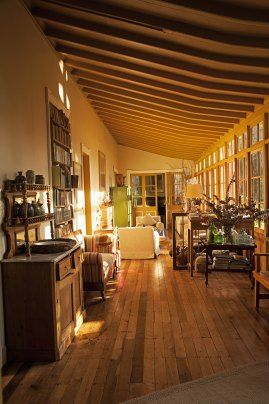The front sitting room of the Casa Patronal with beautiful morning sunlight.