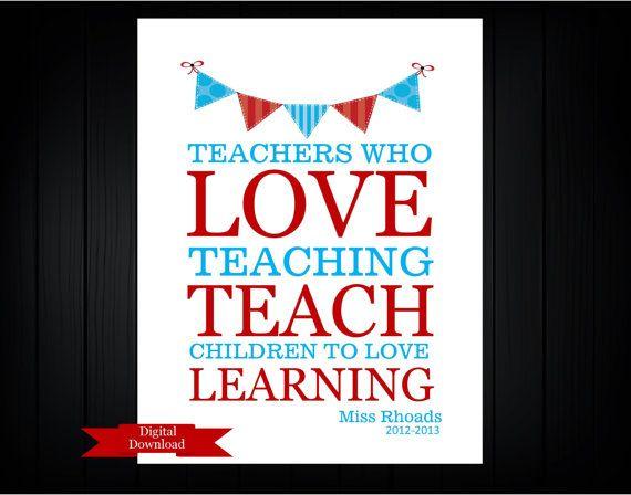 Teacher Appreciation Gift  PDF Digital Download