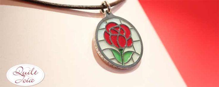 Una QuiltJoia para el Día de la Rosa | Portaldelabores.com | Portal de labores