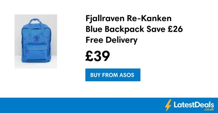Fjallraven Re-Kanken Blue Backpack Save £26 Free Delivery, £39 at ASOS